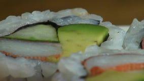 Sushi, Sashimi, Japanese Foods, Cuisine, Gourmet stock footage