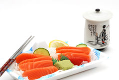 Sushi sashimi lunch box Royalty Free Stock Photos