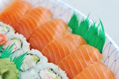 Sushi and Sashimi Lunchbox Stock Photos