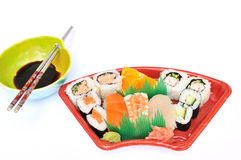 Sushi and Sashimi Lunchbox Stock Images