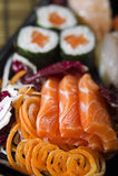 Sushi Sashimi and Maki Stock Photo