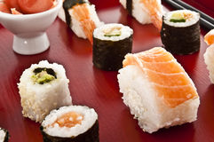 Sushi,sashimi,Maki Japanese cuisine. Stock Image