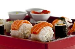 Sushi,sashimi,Maki Japanese cuisine. Stock Photos