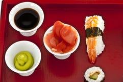 Sushi,sashimi,Maki Japanese cuisine. Royalty Free Stock Photos