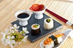 Sushi,sashimi,Maki Japanese cuisine. Stock Photo