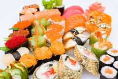 Sushi and sashimi set Royalty Free Stock Photos