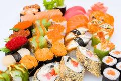 Sushi and sashimi set Royalty Free Stock Photos