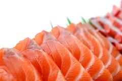 Sushi saumonés Photos libres de droits