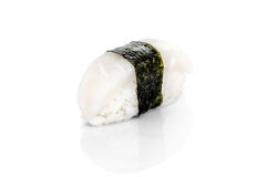 Sushi with scallop, rice, nori Royalty Free Stock Images