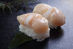 Sushi scallop Royalty Free Stock Images