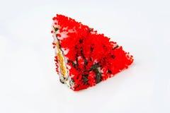 Sushi schieben mit teriyaki Lachsen und rotem tobiko ein Lizenzfreie Stockbilder