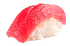 Sushi schließen oben auf Weiß Lizenzfreies Stockbild