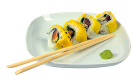 Sushi with scrambled eggs Stock Image