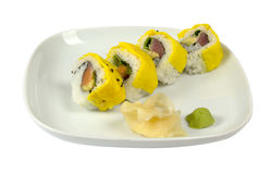 Sushi with scrambled eggs Royalty Free Stock Image