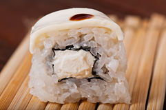 Sushi with sea fish and vegetables. Stock Photography