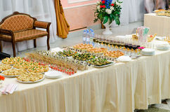 Sushi and seafood buffet Stock Images