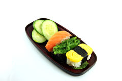 The Sushi seafood set. Royalty Free Stock Image