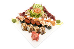 Sushi with seafood Royalty Free Stock Images
