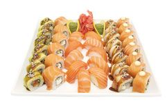 Sushi with seafood Stock Photography
