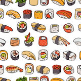 Sushi seamless pattern Royalty Free Stock Photos