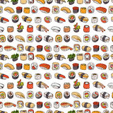 Sushi seamless pattern Royalty Free Stock Photography