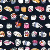 Sushi seamless pattern Stock Photo