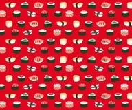 Sushi seamless pattern Stock Photo