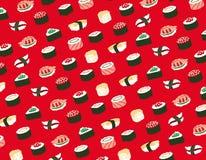 Sushi seamless pattern Royalty Free Stock Photos