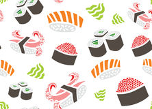 Sushi Seamless Pattern Royalty Free Stock Images