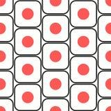 Sushi seamless pattern Royalty Free Stock Images