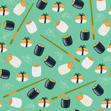Sushi seamless wallpaper Royalty Free Stock Photo
