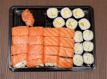 Sushi selection plate Royalty Free Stock Photo
