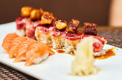 Sushi with selective focus Royalty Free Stock Images
