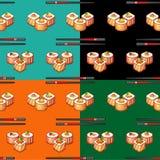 Sushi senza cuciture 2 del modello Fotografia Stock