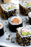Sushi served on plate Royalty Free Stock Photo