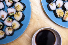Sushi serving Stock Images