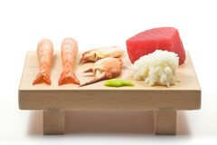 Sushi serving board Stock Image