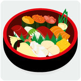 Sushi set. Royalty Free Stock Images