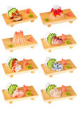 Sushi set. Isolated photography fo design or menu Royalty Free Stock Photography