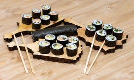 Sushi set. In the studio shoot Royalty Free Stock Photo