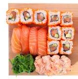 Sushi Set. On white background Stock Images