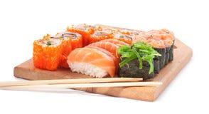 Sushi Set. On white background Royalty Free Stock Photo