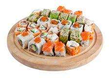 Sushi set. Isolated on white Stock Images