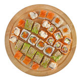 Sushi set. Isolated on white Stock Photo