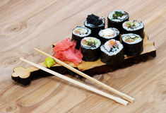 Sushi set. The last stage of cooking Stock Photo