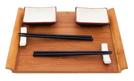 Sushi set on bamboo Royalty Free Stock Images