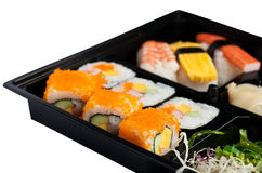 Sushi set in black box Stock Photos