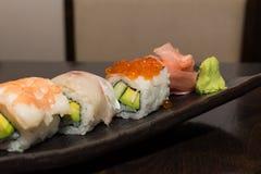 Sushi set closeup Stock Photos