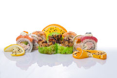 Sushi set with diferent type of fish Stock Photo