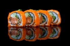 Sushi set with fish eggs Stock Photos